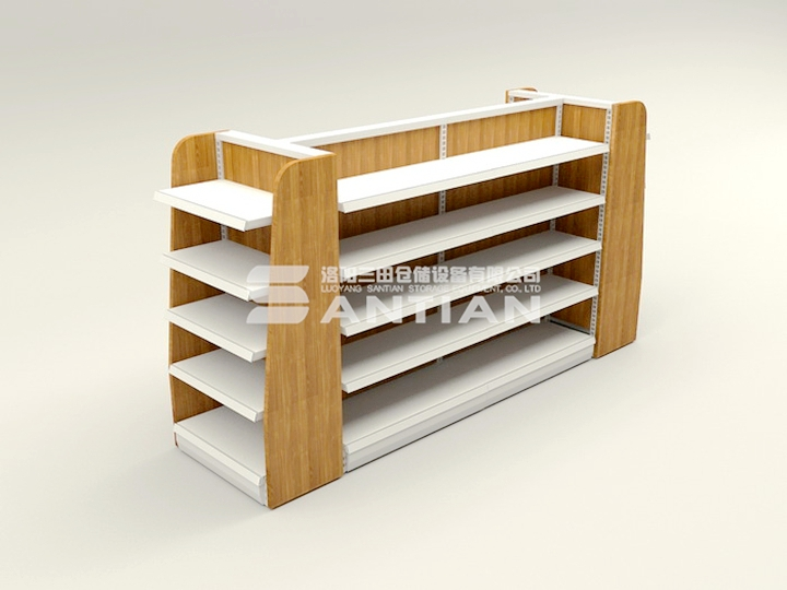ST-A001 便利店货架-木背木侧板