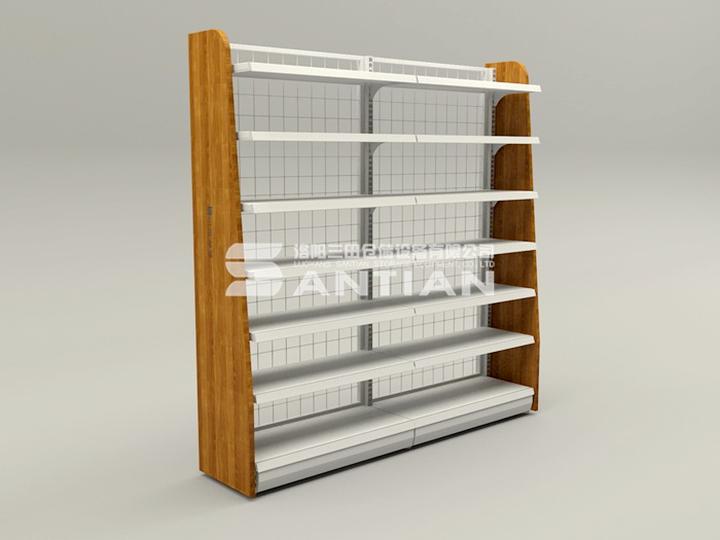 ST-A011 便利店货架-木侧板