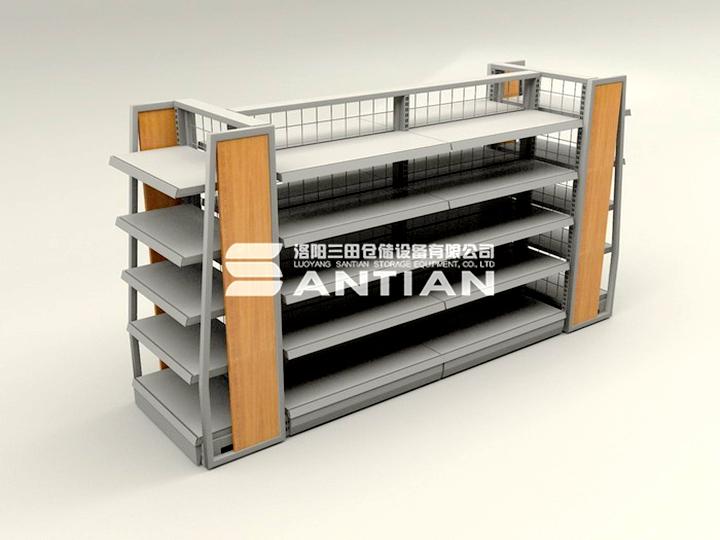 ST-A001 便利店货架-木侧板